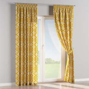 Pencil pleat curtains 130 x 260 cm (51 x 102 inch) in collection Comic Book & Geo Prints, fabric: 135-09