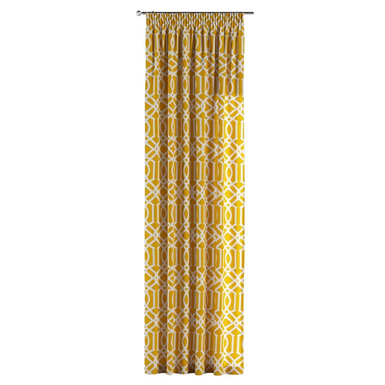 Gardin med rynkband 1 längd 130 x 260 cm i kollektionen Comics , Tyg: 135-09