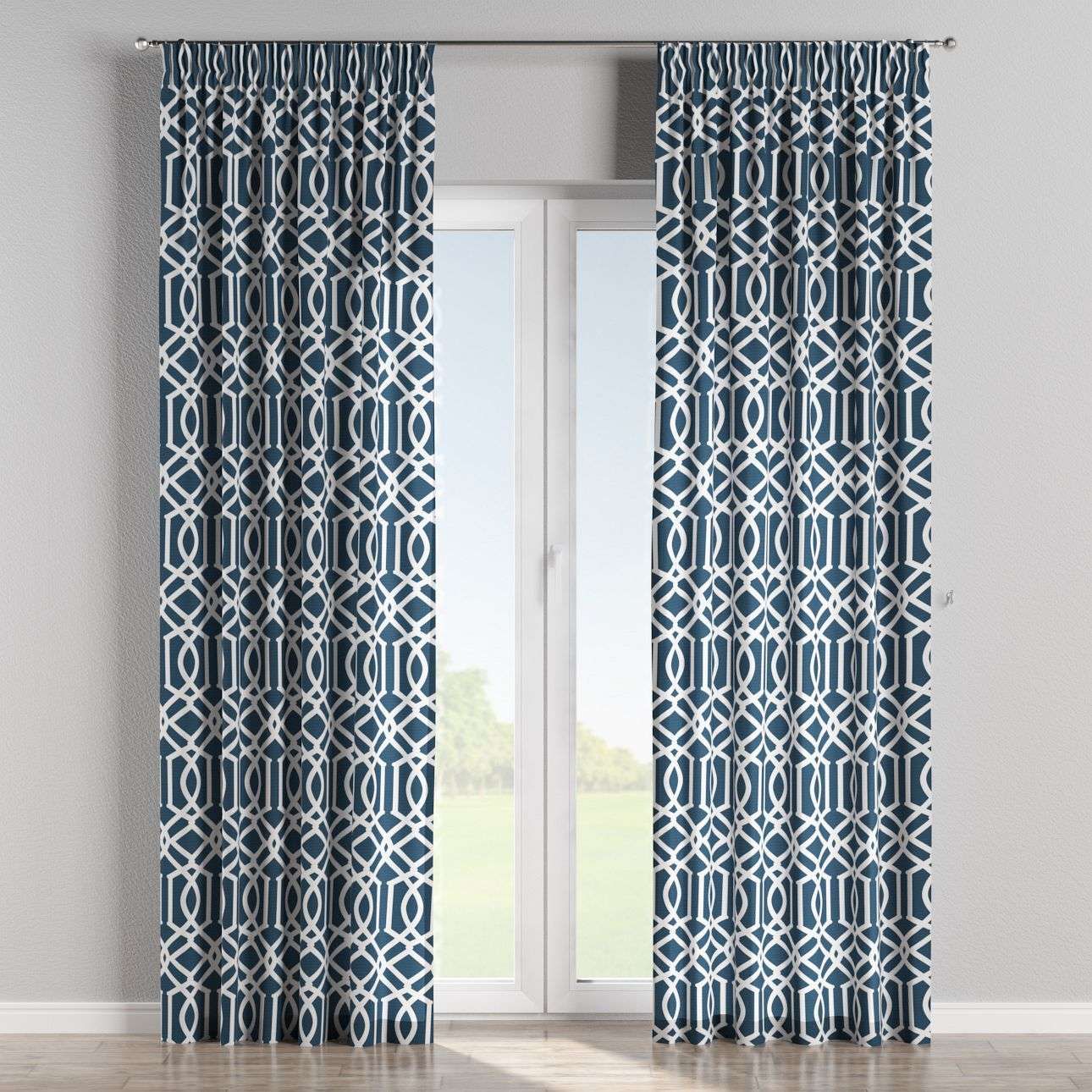 Pencil pleat curtains 130 × 260 cm (51 × 102 inch) in collection Comics/Geometrical, fabric: 135-10
