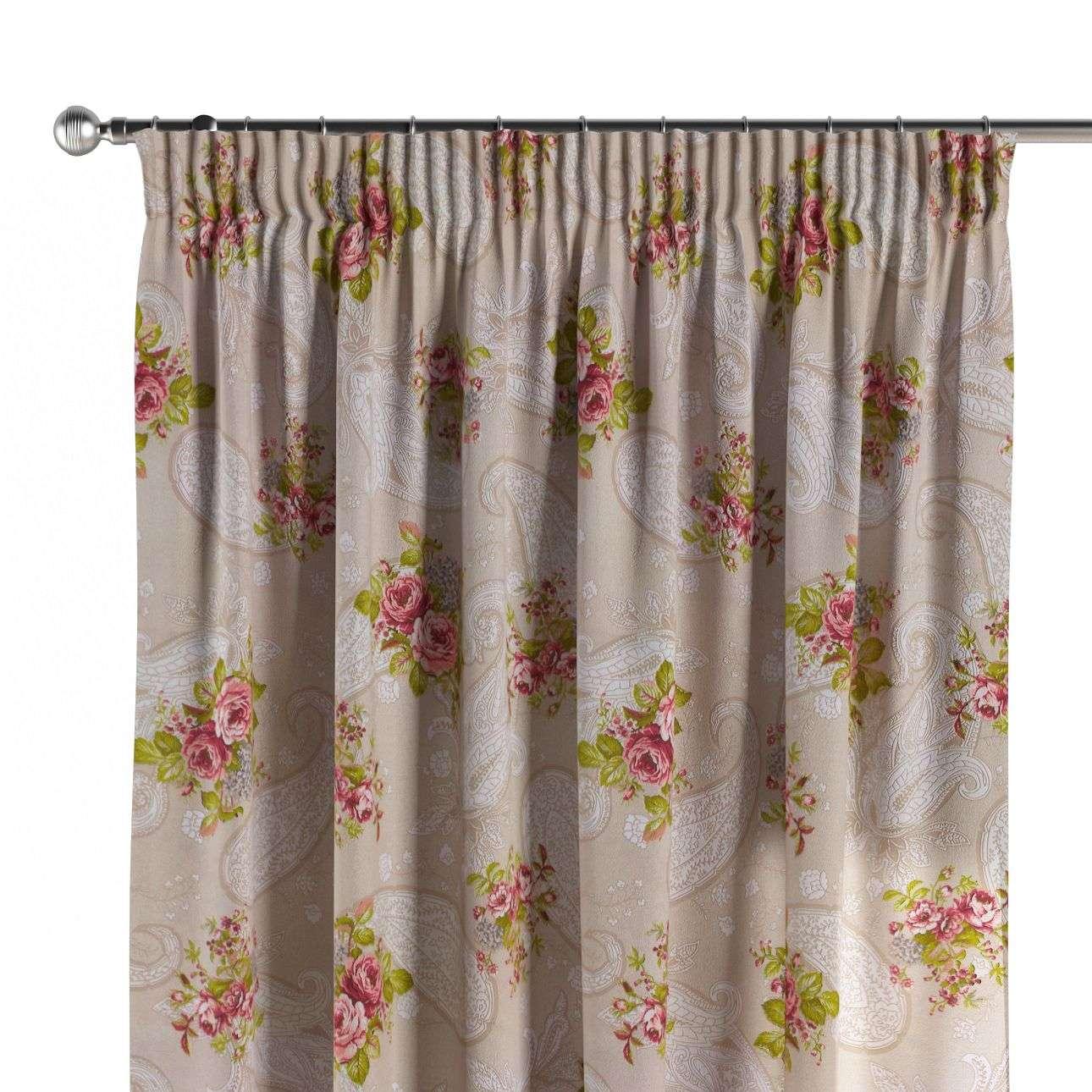 Vorhang mit Kräuselband 130 x 260 cm von der Kollektion Flowers, Stoff: 311-15