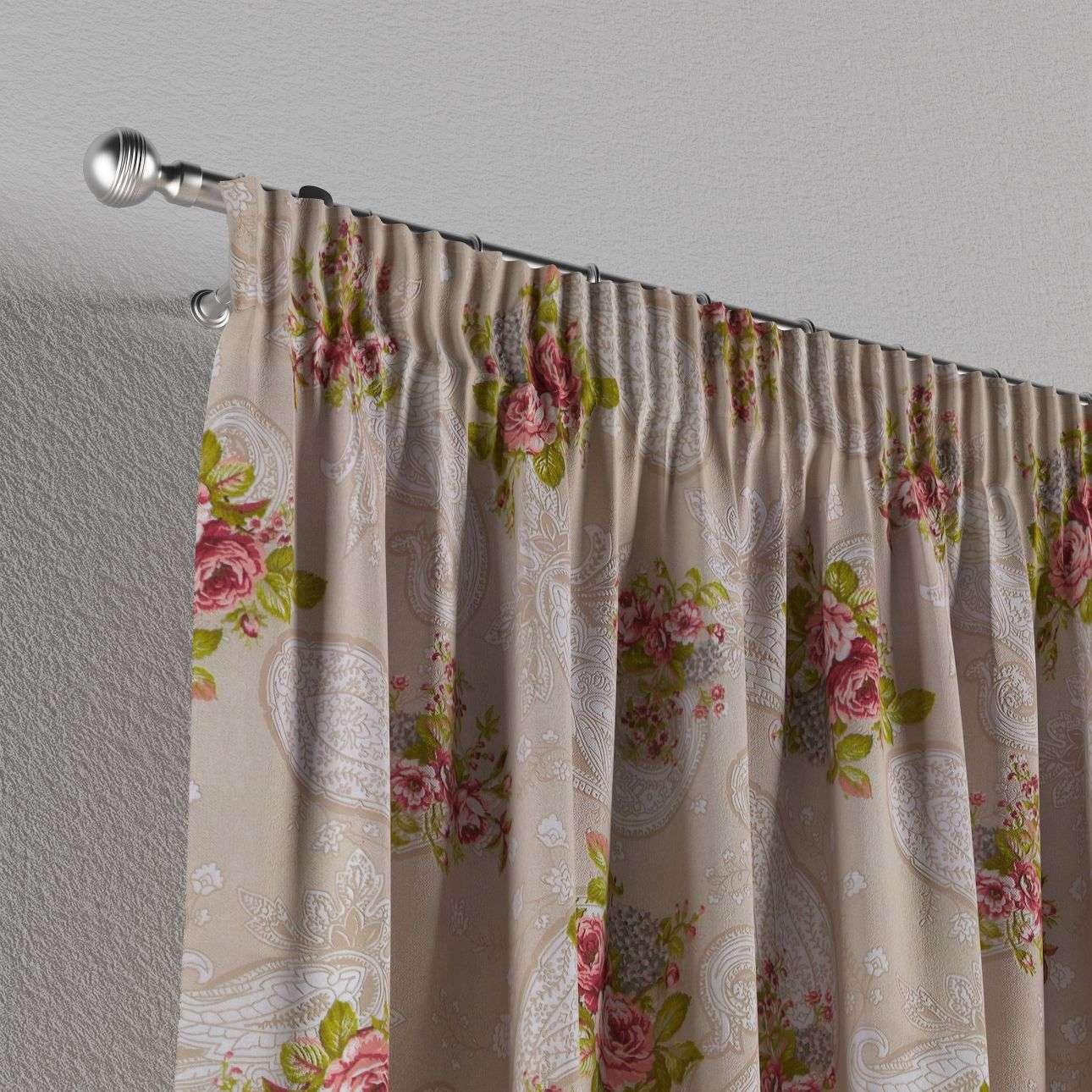 Záves na riasiacej páske 130 × 260 cm V kolekcii Flowers, tkanina: 311-15