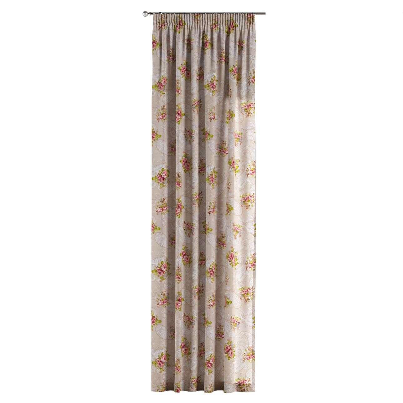 Gardin med rynkebånd 130 x 260 cm fra kollektionen Flowers, Stof: 311-15