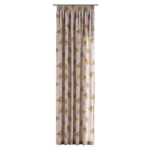 Gardin med rynkband 1 längd 130 x 260 cm i kollektionen Flowers, Tyg: 311-15