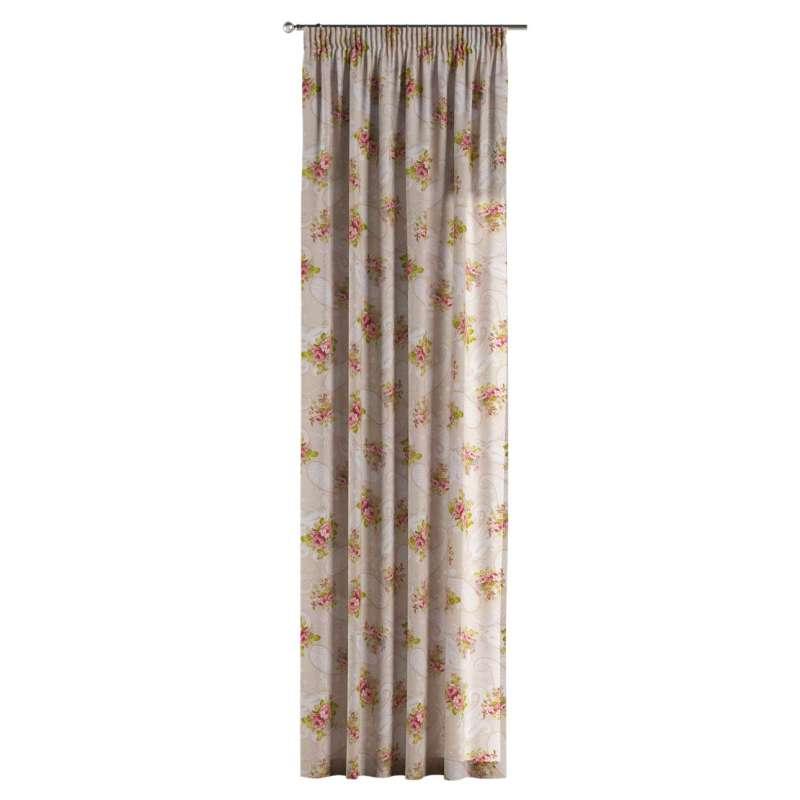 Függöny ráncolóval a kollekcióból Flowers Lakástextil, Dekoranyag: 311-15