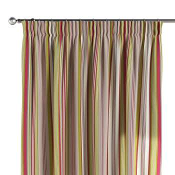 Pencil pleat curtains 130 x 260 cm (51 x 102 inch) in collection Flowers, fabric: 311-16
