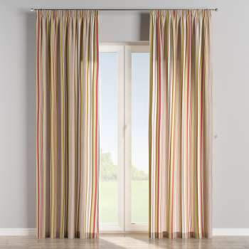 Pencil pleat curtains in collection Flowers, fabric: 311-16