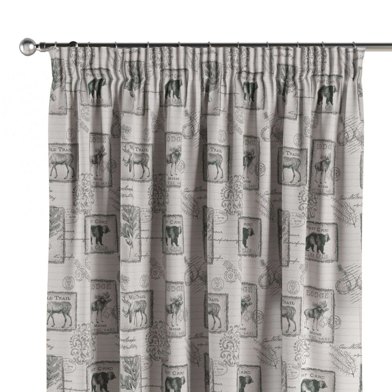 Pencil pleat curtains 130 x 260 cm (51 x 102 inch) in collection Christmas, fabric: 630-18