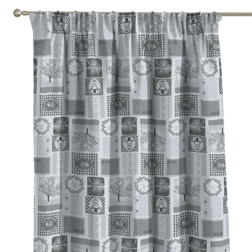 Pencil pleat curtains in collection Christmas, fabric: 630-20