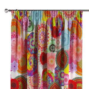 Pencil pleat curtains 130 x 260 cm (51 x 102 inch) in collection Comic Book & Geo Prints, fabric: 135-22