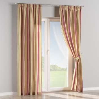 Pencil pleat curtains in collection Londres, fabric: 122-09