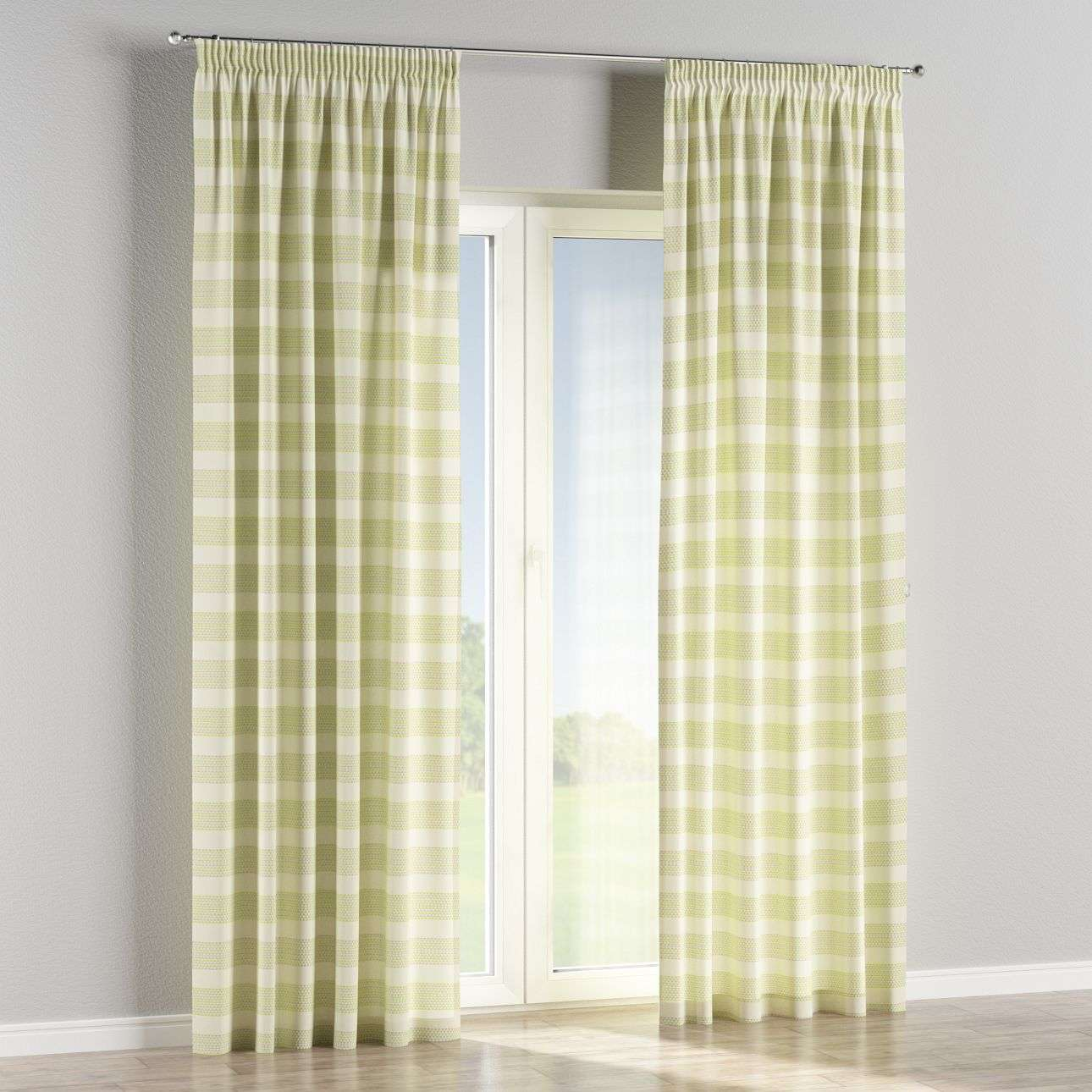 Pencil pleat curtains 130 x 260 cm (51 x 102 inch) in collection Rustica, fabric: 140-35