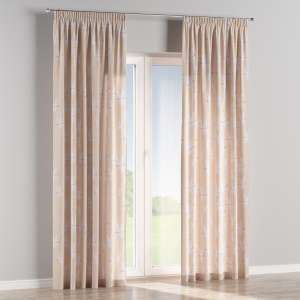 Pencil pleat curtains 130 x 260 cm (51 x 102 inch) in collection Apanona, fabric: 151-00