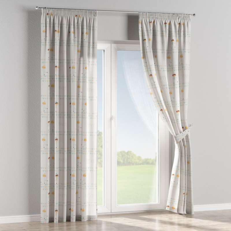 Pencil pleat curtains in collection Little World, fabric: 151-01