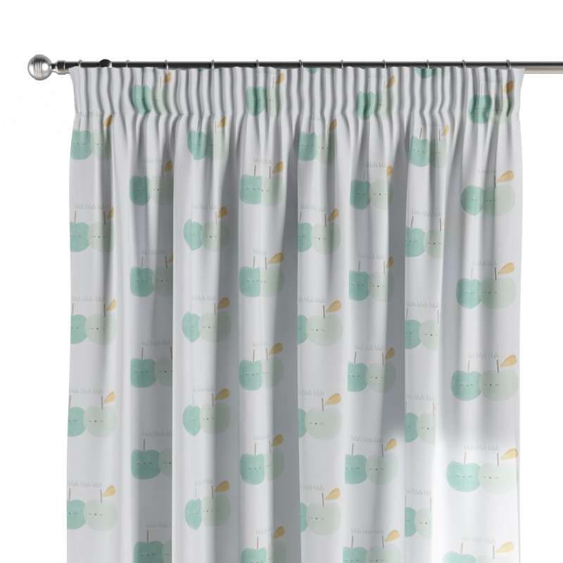 Pencil pleat curtains in collection Apanona, fabric: 151-02