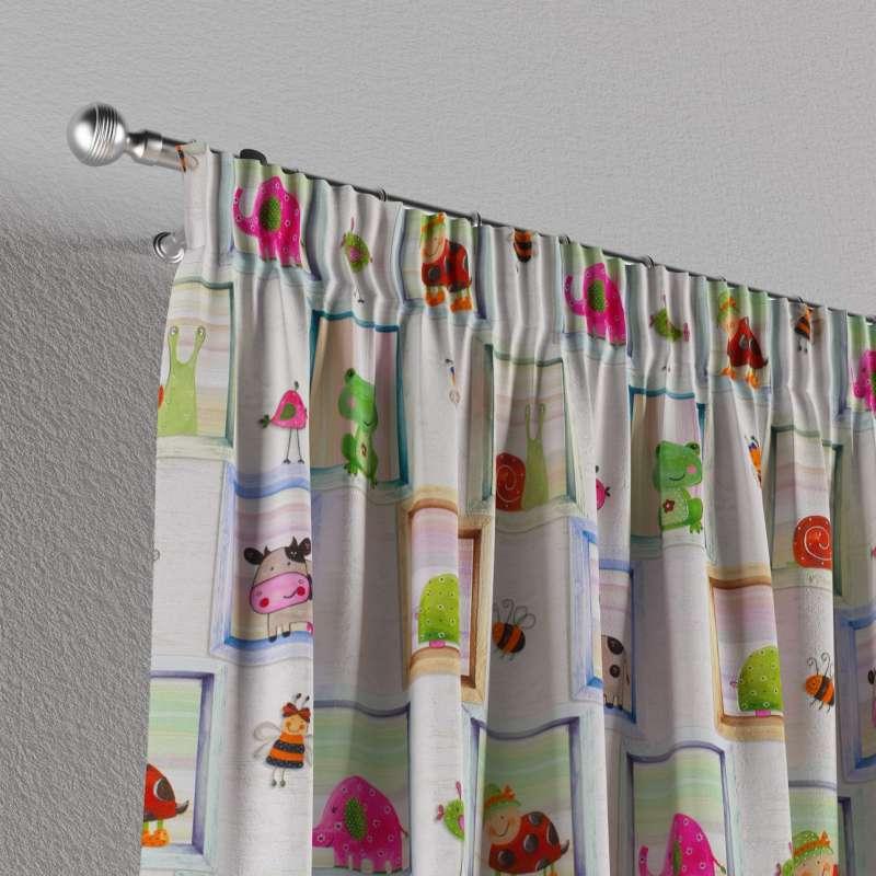 Vorhang mit Kräuselband von der Kollektion Little World, Stoff: 151-04