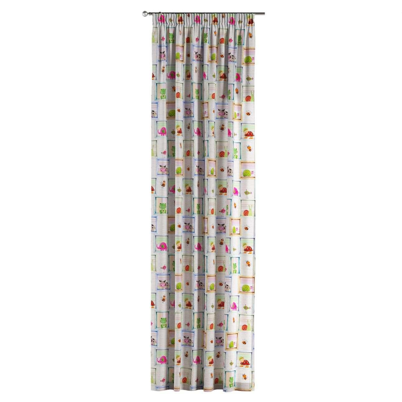 Vorhang mit Kräuselband 130 x 260 cm von der Kollektion Apanona, Stoff: 151-04