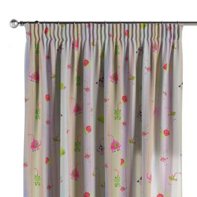 Pencil pleat curtains in collection Apanona, fabric: 151-05