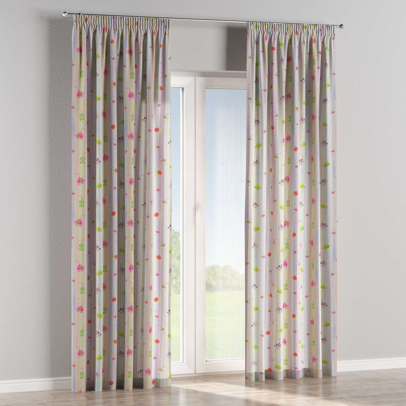 Pencil pleat curtains 130 x 260 cm (51 x 102 inch) in collection Apanona, fabric: 151-05