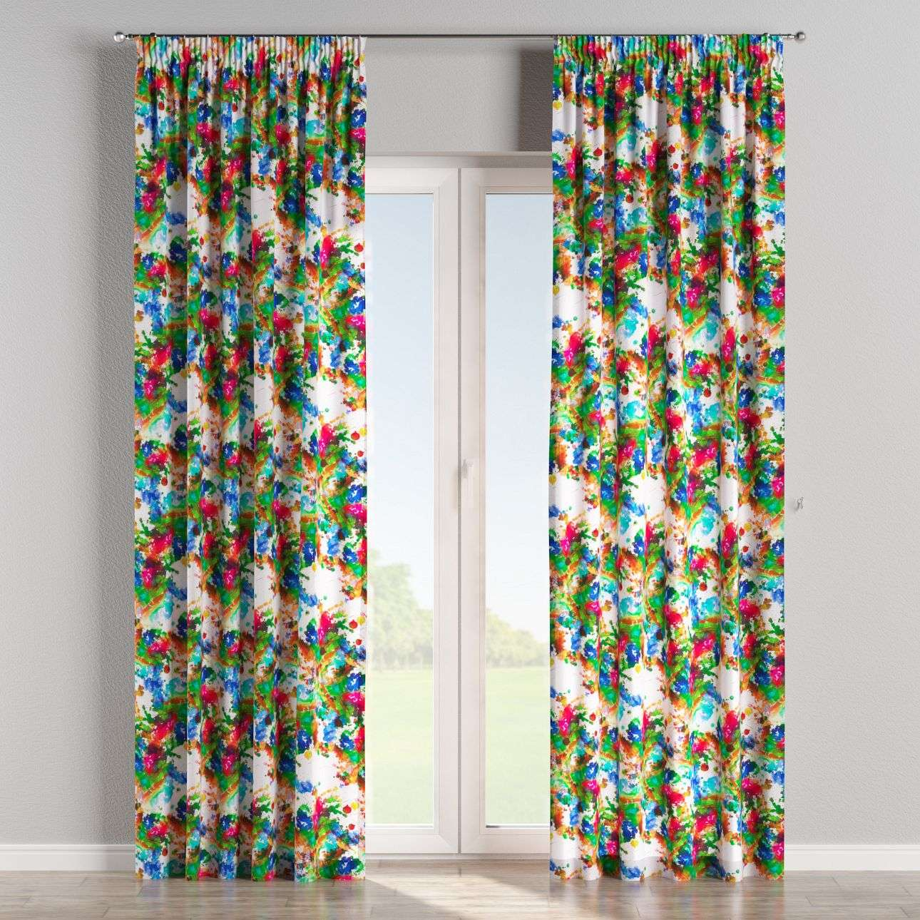 Pencil pleat curtains 130 x 260 cm (51 x 102 inch) in collection New Art, fabric: 140-23