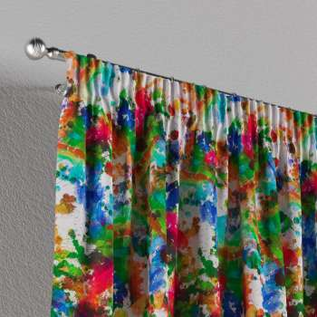 Pencil pleat curtains in collection New Art, fabric: 140-23