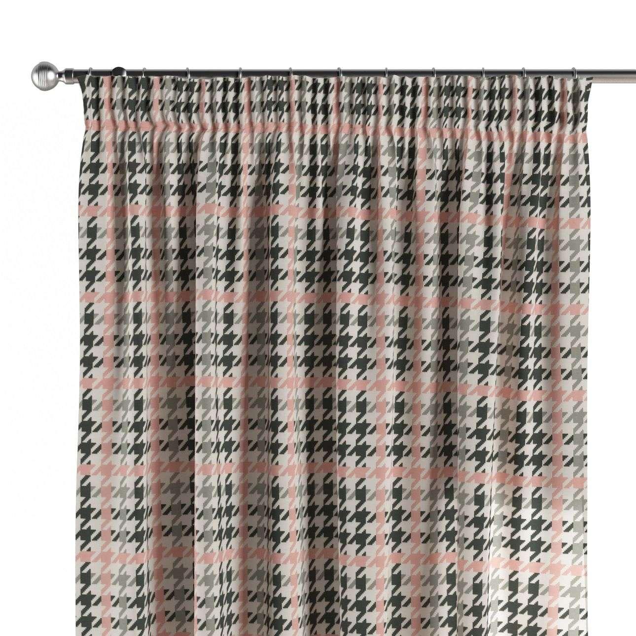 gordijn met plooiband 130 × 260 cm van de collectie Brooklyn, Stof: 137-75