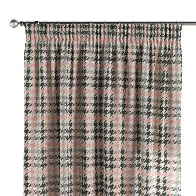 Závěs s řasící páskou 137-75 růžovo-šedo-černé pepito Kolekce SALE - doprodej