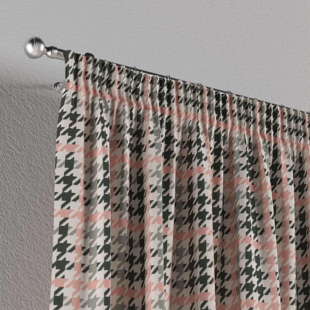 Gardin med rynkband 1 längd i kollektionen Brooklyn, Tyg: 137-75