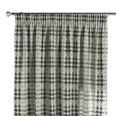 Závěs s řasící páskou 137-77 mátovo-šedo-černé pepito Kolekce SALE - doprodej