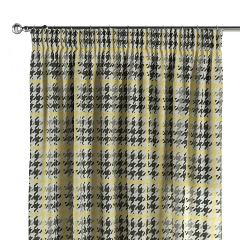 Gardin med rynkband 1 längd i kollektionen OUTLET, Tyg: 137-79