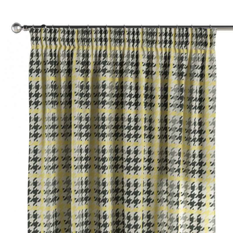 Pencil pleat curtain in collection Brooklyn, fabric: 137-79