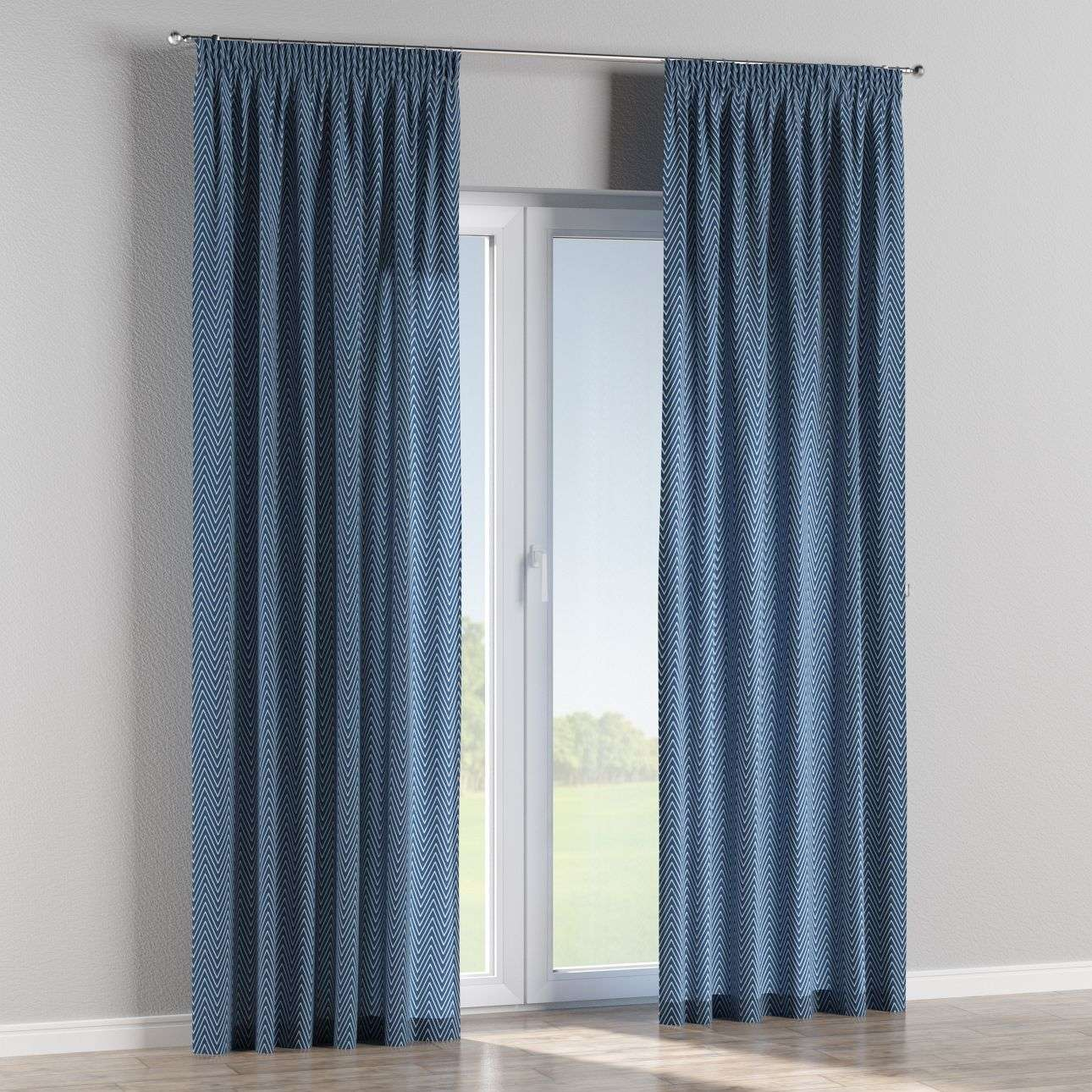 Pencil pleat curtains 130 x 260 cm (51 x 102 inch) in collection Brooklyn, fabric: 137-88