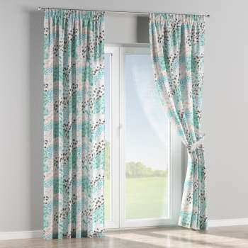 Pencil pleat curtains 130 x 260 cm (51 x 102 inch) in collection Brooklyn, fabric: 137-89