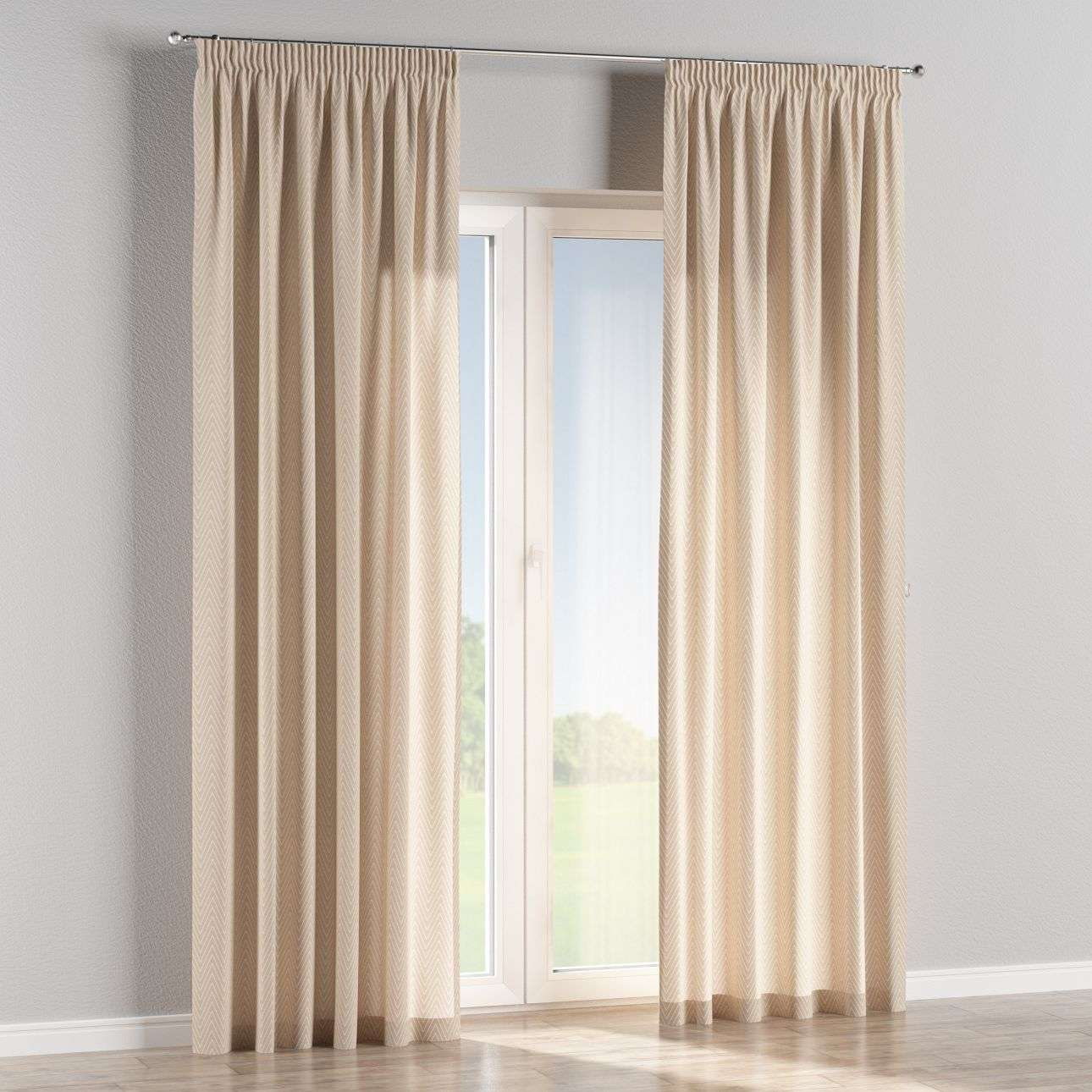 Pencil pleat curtains in collection Brooklyn, fabric: 137-91
