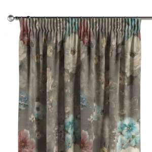 Pencil pleat curtains 130 x 260 cm (51 x 102 inch) in collection Monet, fabric: 137-81