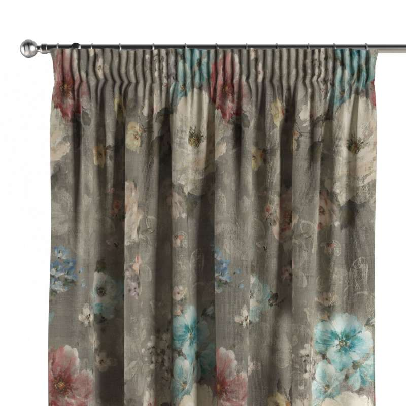 Pencil pleat curtain in collection Monet, fabric: 137-81