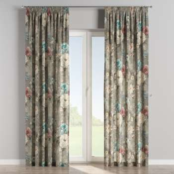 Pencil pleat curtains in collection Monet, fabric: 137-81