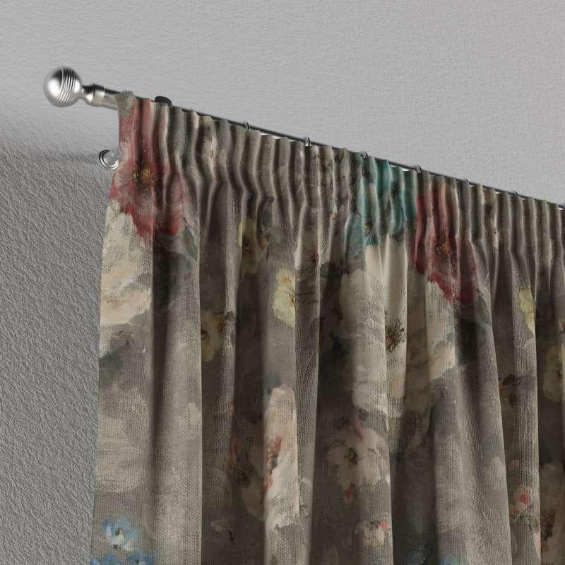 Gardin med rynkband 1 längd i kollektionen Monet, Tyg: 137-81