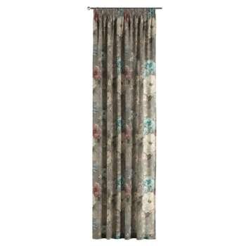 Gardin med rynkband 1 längd 130 x 260 cm i kollektionen Monet , Tyg: 137-81
