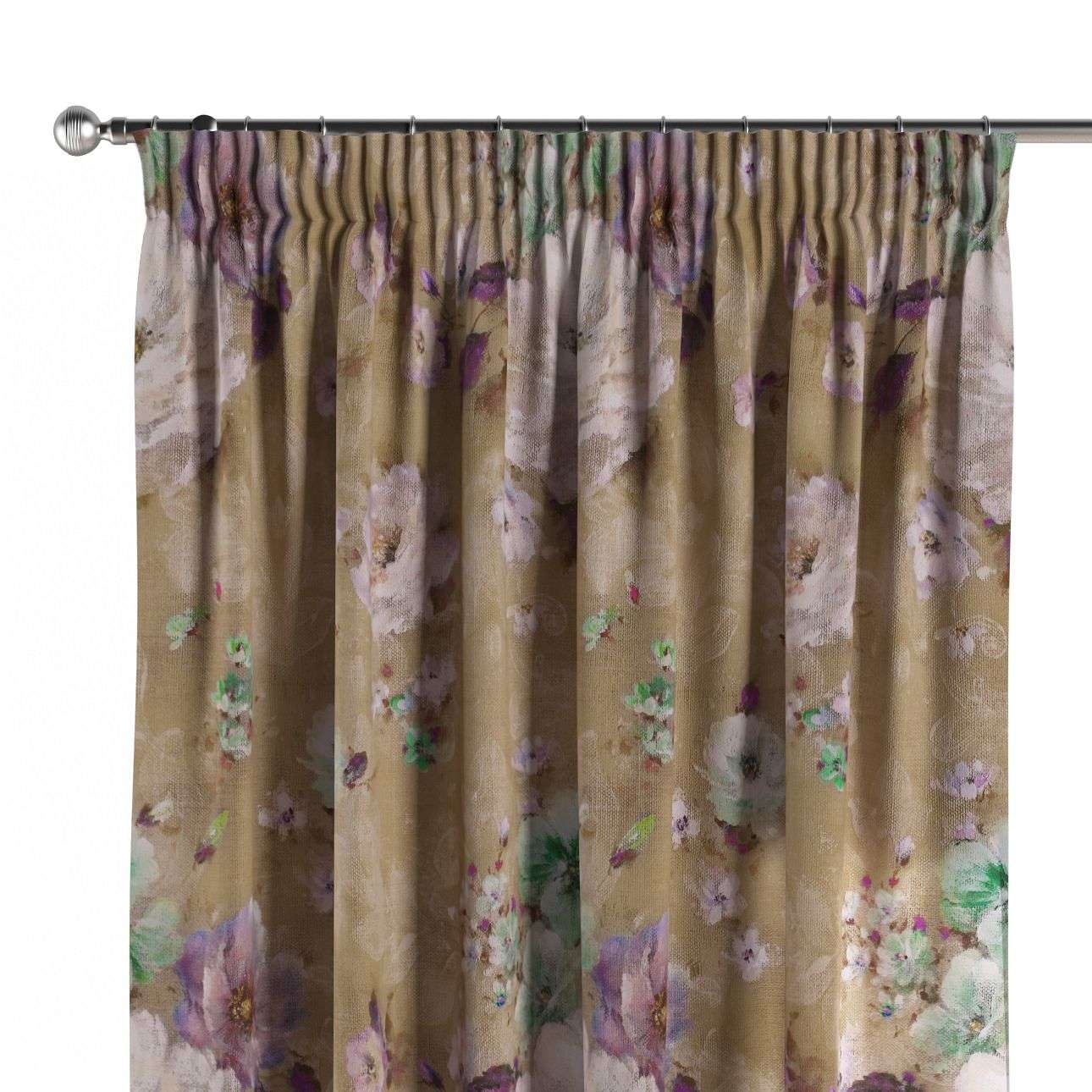 Pencil pleat curtains in collection Monet, fabric: 137-82
