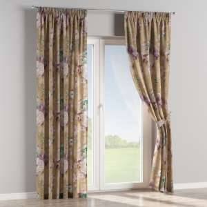 Pencil pleat curtains 130 x 260 cm (51 x 102 inch) in collection Monet, fabric: 137-82