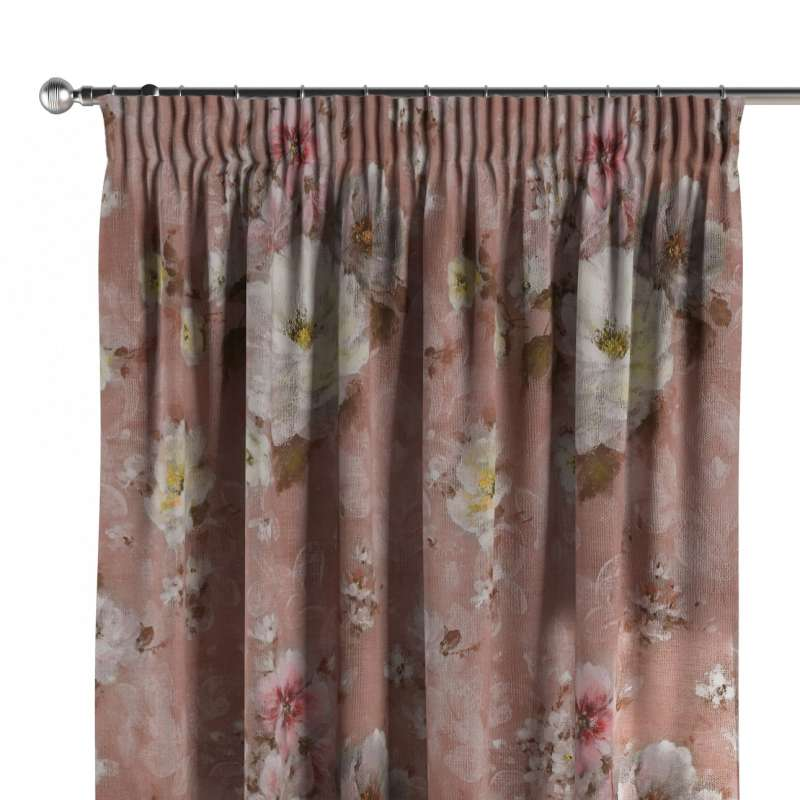 Pencil pleat curtain in collection Monet, fabric: 137-83