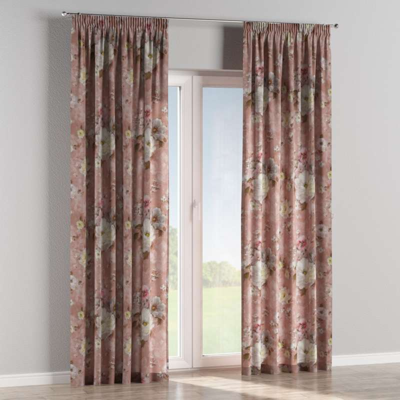 Pencil pleat curtains in collection Monet, fabric: 137-83