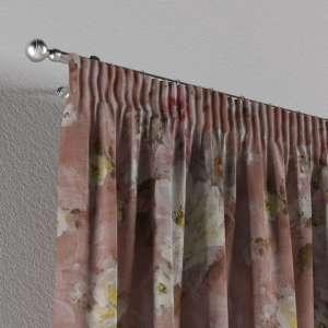 Gardin med rynkband 1 längd 130 x 260 cm i kollektionen Monet , Tyg: 137-83