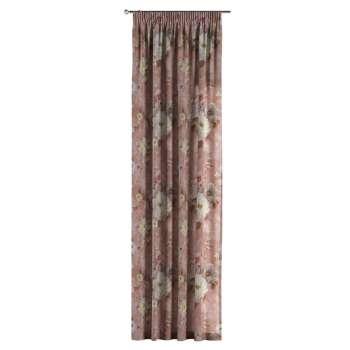 Gardin med rynkband 1 längd i kollektionen Monet, Tyg: 137-83