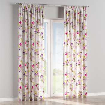 Pencil pleat curtains in collection Monet, fabric: 140-00
