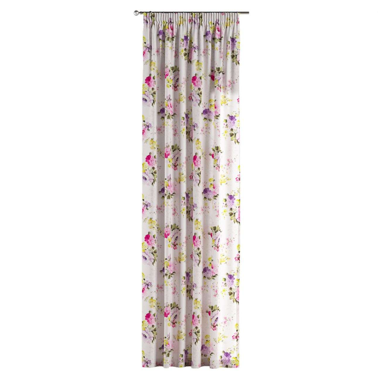 Pencil pleat curtains 130 x 260 cm (51 x 102 inch) in collection Monet, fabric: 140-00