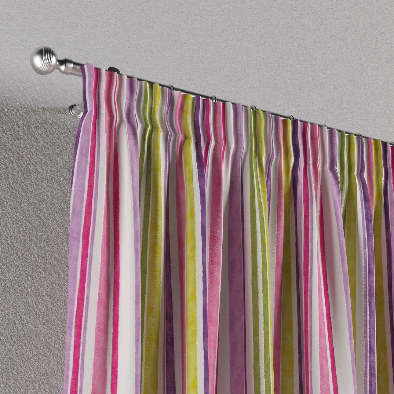 Pencil pleat curtains in collection Monet, fabric: 140-01