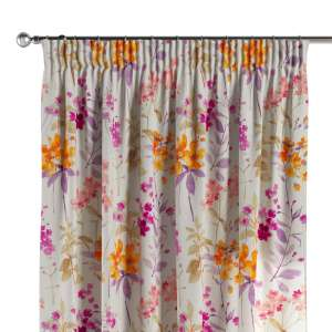 Pencil pleat curtains 130 x 260 cm (51 x 102 inch) in collection Monet, fabric: 140-04