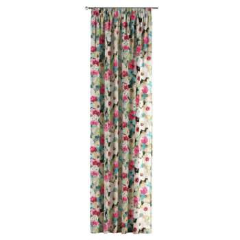 Pencil pleat curtains in collection Monet, fabric: 140-08