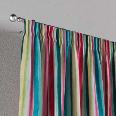 Pencil pleat curtains in collection Monet, fabric: 140-09